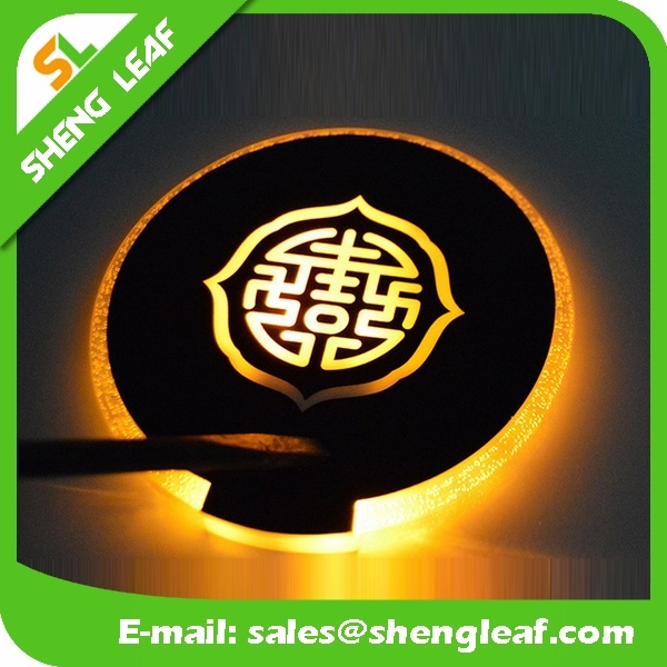 Promotional LED Custom Acrylic Coaster (SLF-LC015)