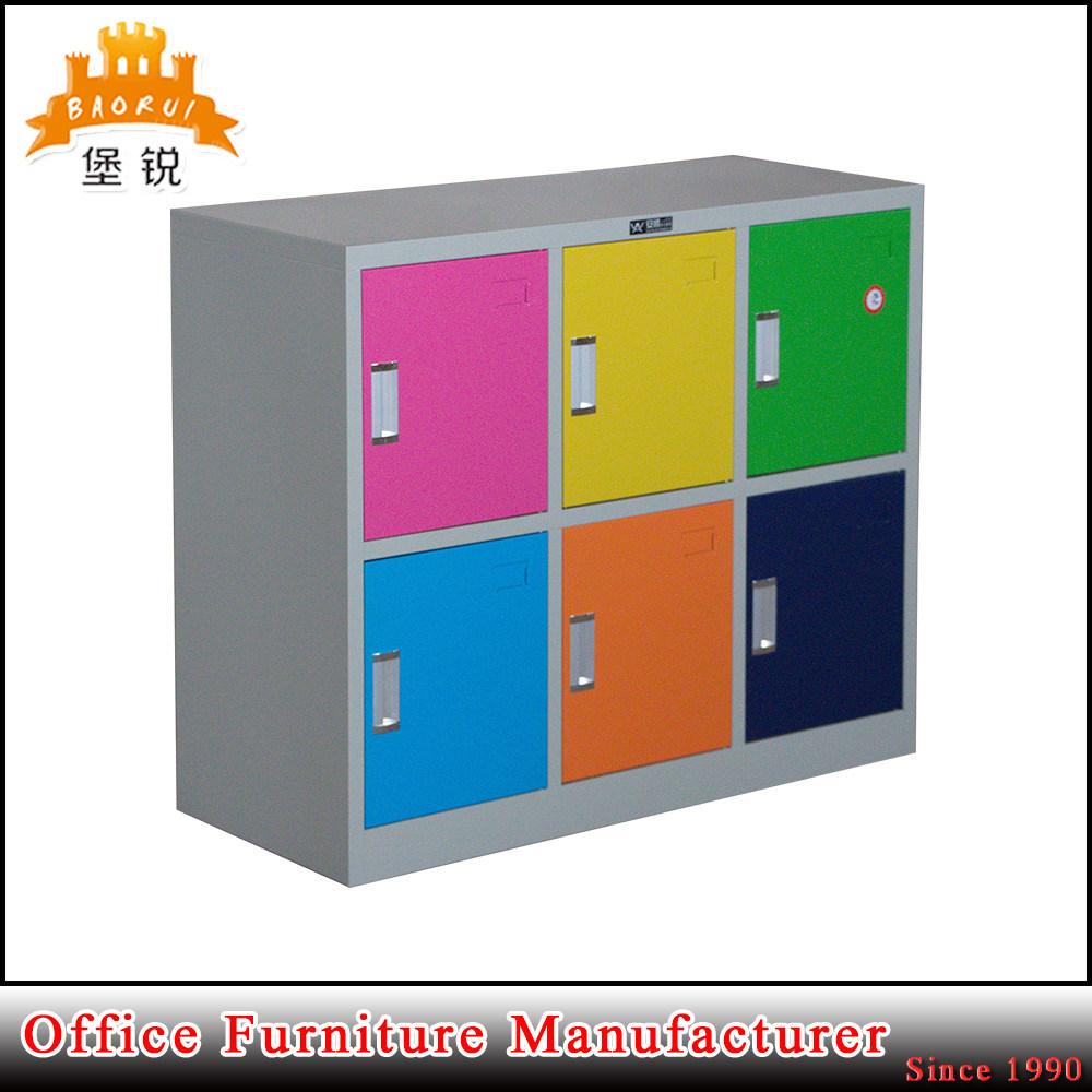 6 Door Metal Furniture School Office Kids Dressing Cabinet Locker