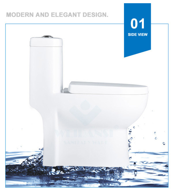 Weidansi Ceramic Wash Down S-Trap One Piece Toilet (WDS-T6113)