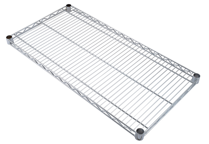 NSF Metro Standard Healthcare Chrome Metal Storage Shelving for Hospital Use