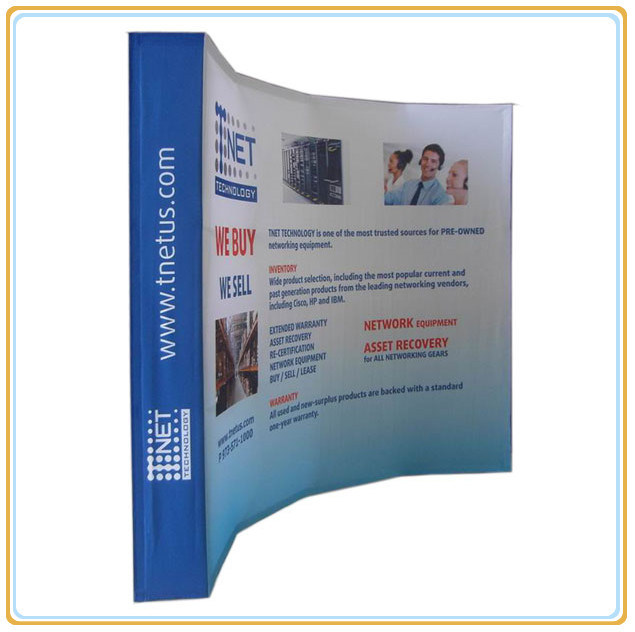 Trade Show Tension Fabric Curved Pop up Stand (10ft curved)