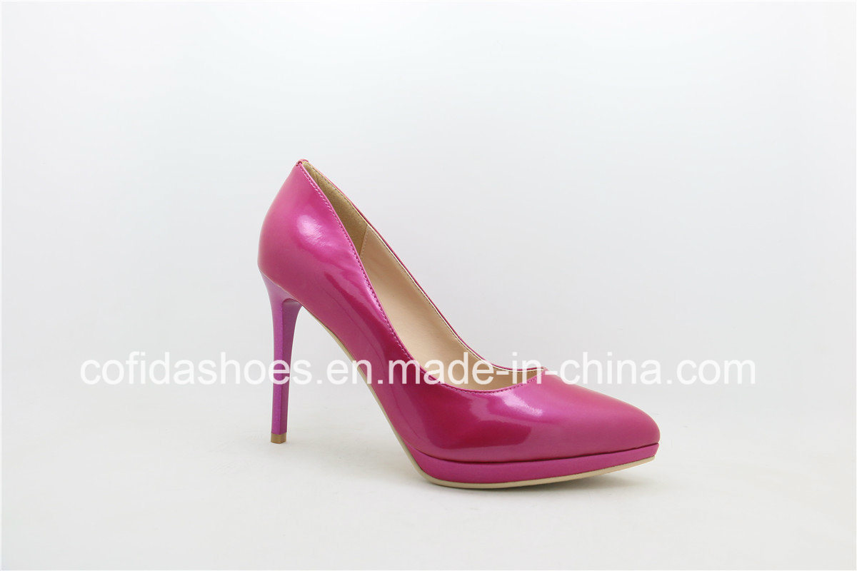 New Arrival Sexy High Heel Leather Lady Dress Shoes