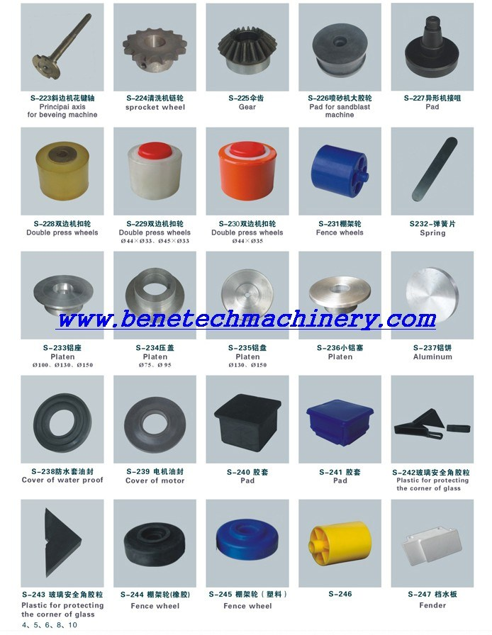 All Type Spare Parts for Glass Machine, Chinese Glass Machines Spare Parts