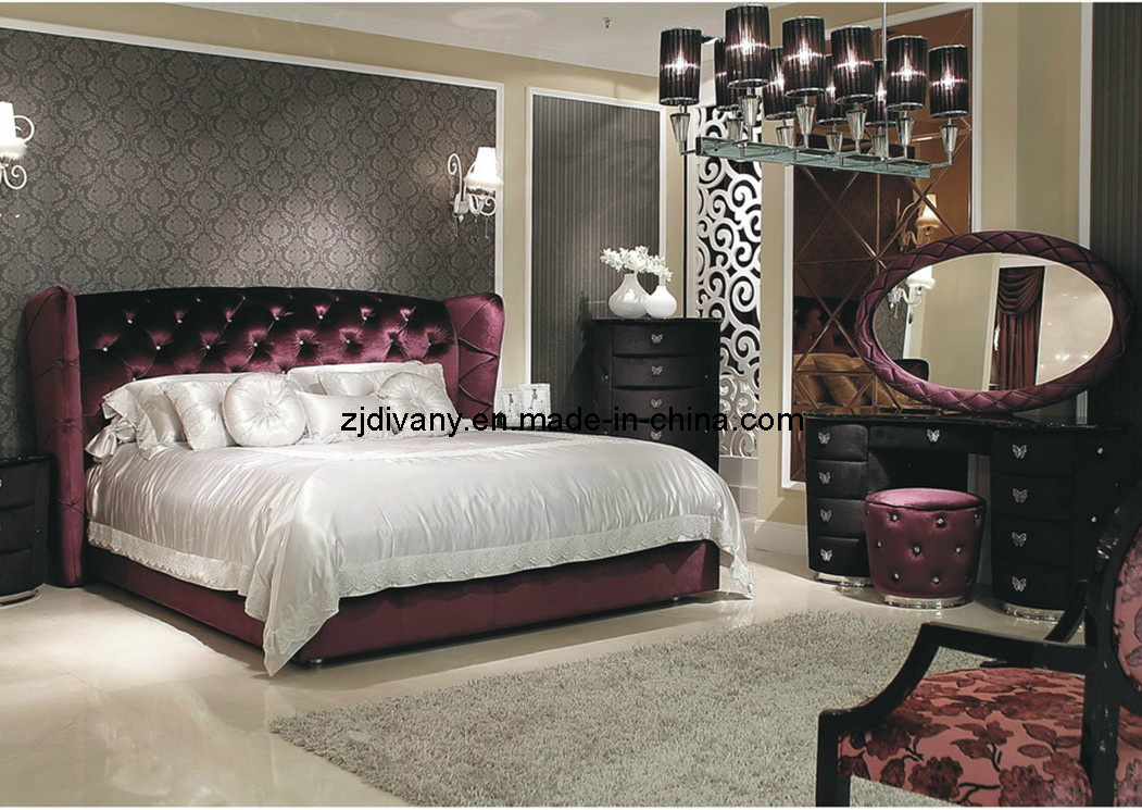 China PostModern Style Wood Bedroom Furniture China Fabric