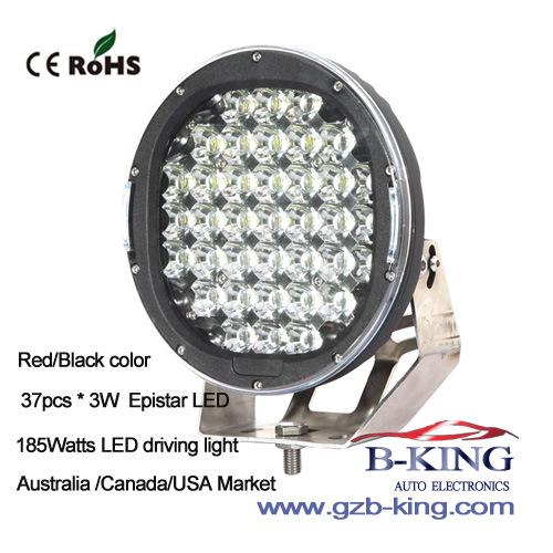 Red/Black 37PCS*5watts 185W Epistar LED Driving Work Light