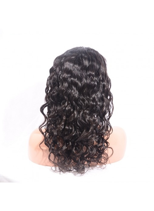 Human Hair Loose Wave Lace Front Wig Can Put Ponytail