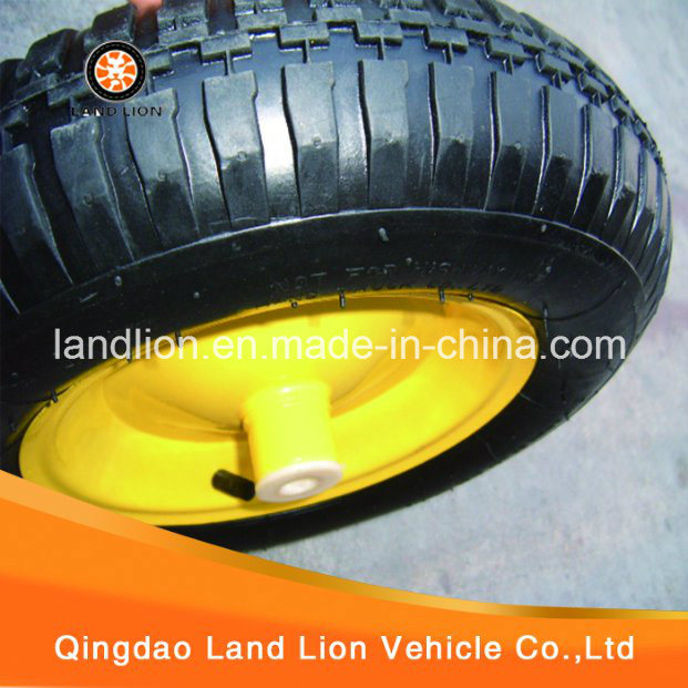 Spray Painting Yellow Colour Rim for Rubber Wheel 3.50-8