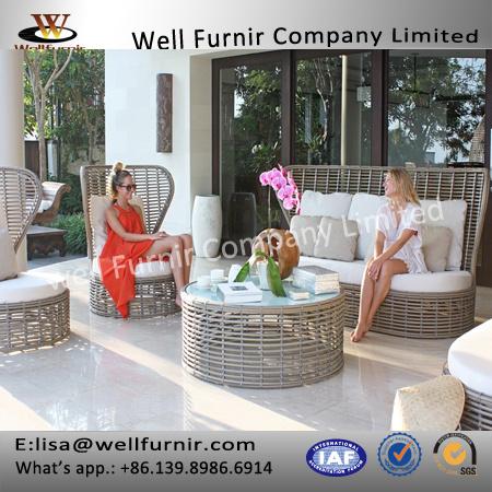 Well Furnir T-010 Modern High Quality Outdoor Materials Rattan Sofa Set Supplier