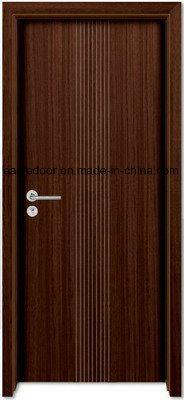 Economical Interior Wooden Rounded MDF PVC Door (EI-P082)