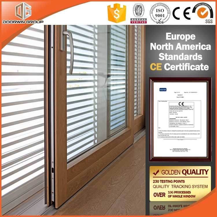 Heavy Duty Lift and Sliding Wood Aluminum Glass Door Made for America Client