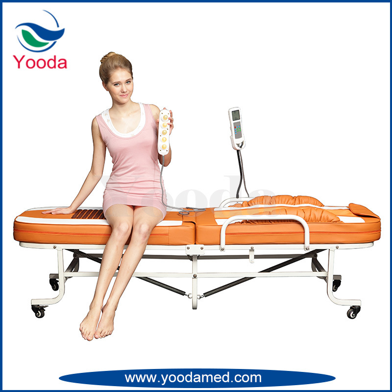 Massage Products Folding Jade Massage Bed with Wheel
