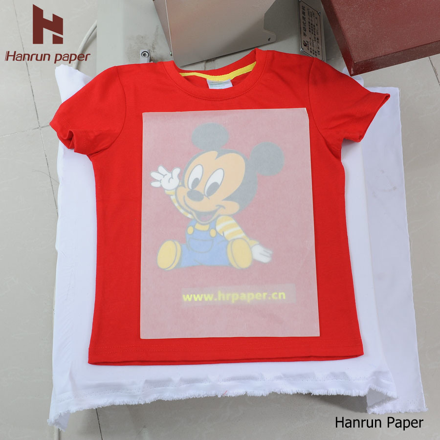 PU Coating Layer, Easy Cutting Dark T-Shirt Heat Transfer Paper Transfer Printing for 100% Cotton Fabric