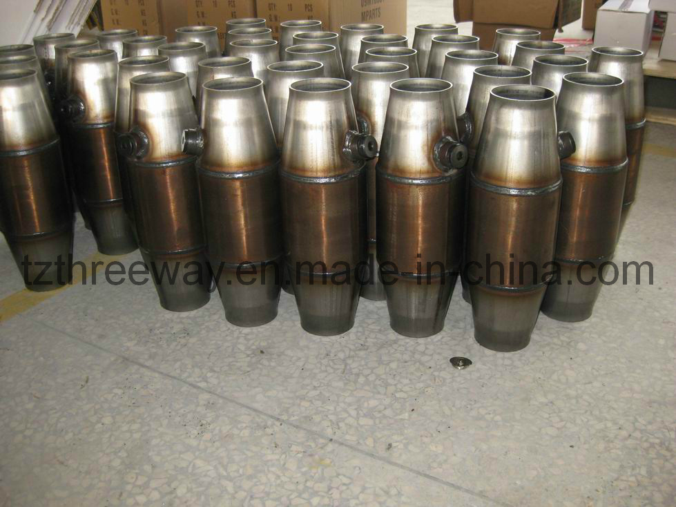 Metallic Catalyst Converter Weld with Oxygen Sensor Nut and Plug