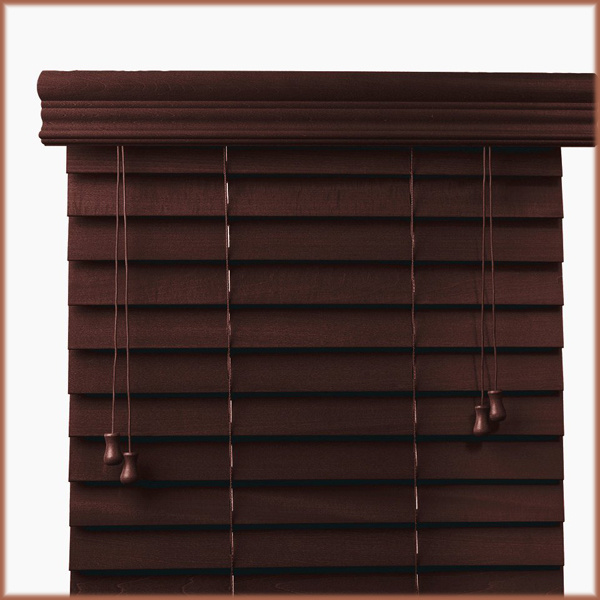 Cord Control High Profiel Metal Head Rail Basswood Blind