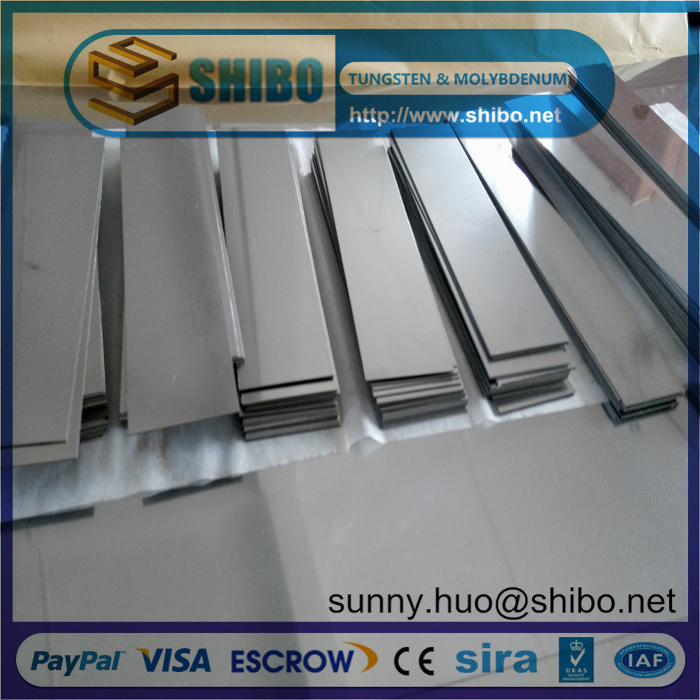 Pure Moly Sheet, Molybdenum Plate for High Temperature Furnace Construction