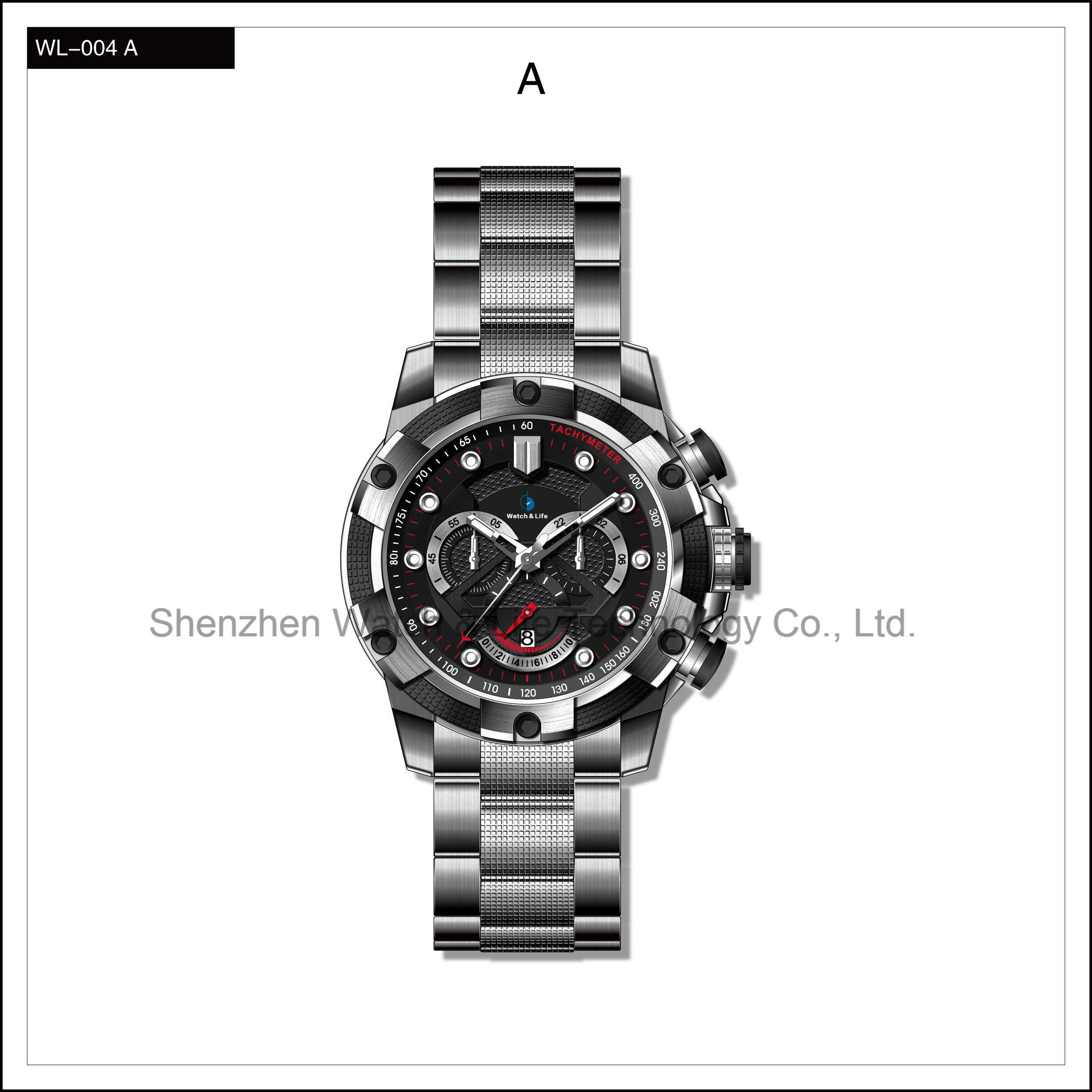 Heavy High Quality Sport Watch Stainless Steel Men′s Automatic Watch Wrist Watch