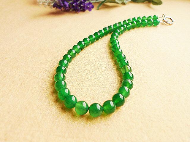 China natural handmade green agate gemstone necklace china jewelry