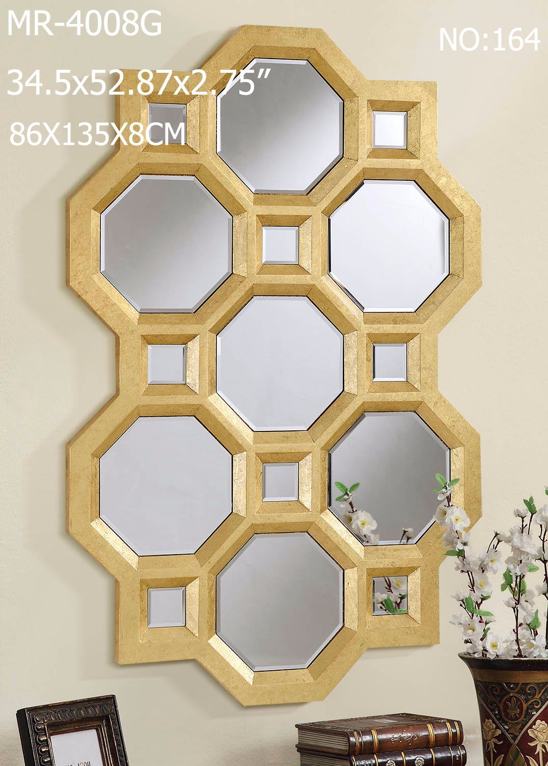 Wood Frame Decor Venetian Wall Mirror