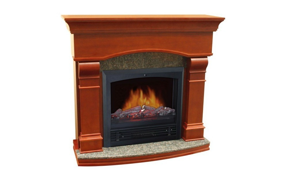 Electric fireplace mantel packages no venting required for Fireplace no mantle