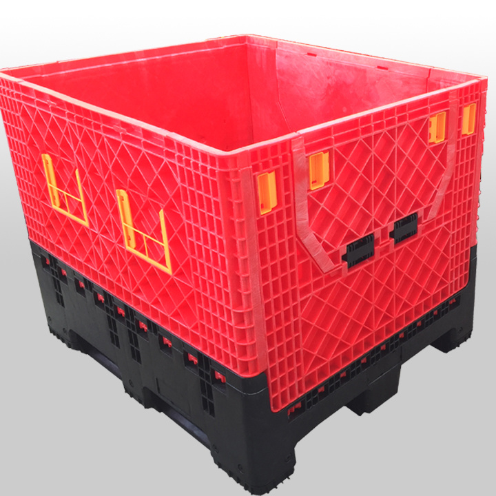 Foldable Fruit and Vegetable Storage Plastic Pallet Containers Boxes 1200X1000X975