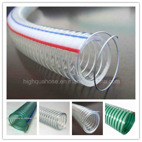 Non - Smell Clear Steel Wire Reinforced PVC Spiral Hose