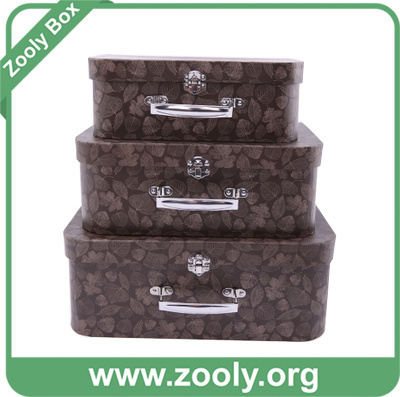 China Cardboard Suitcase Gift Box with Handles / Nesting Suitcase ...