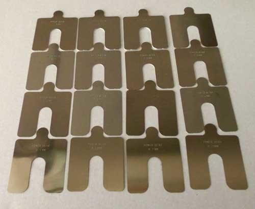 Etched U Slotted Shims (SMT-610)