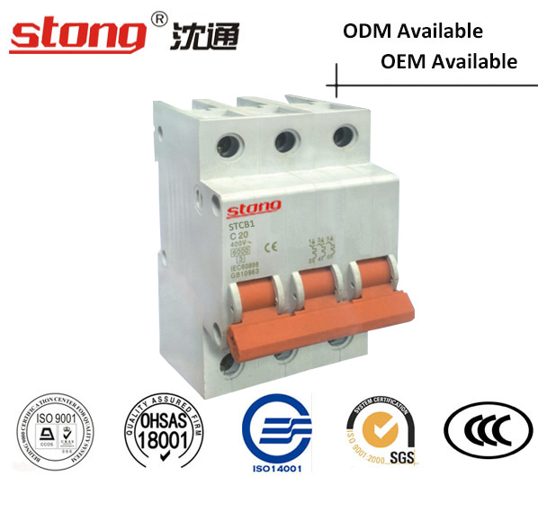 Stcb-1 New Product Vacuum Mini Circuit Breaker MCB 1p