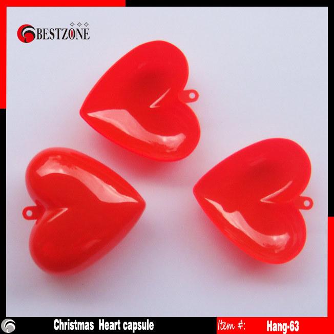 63mm Christmas Plastic Hearts