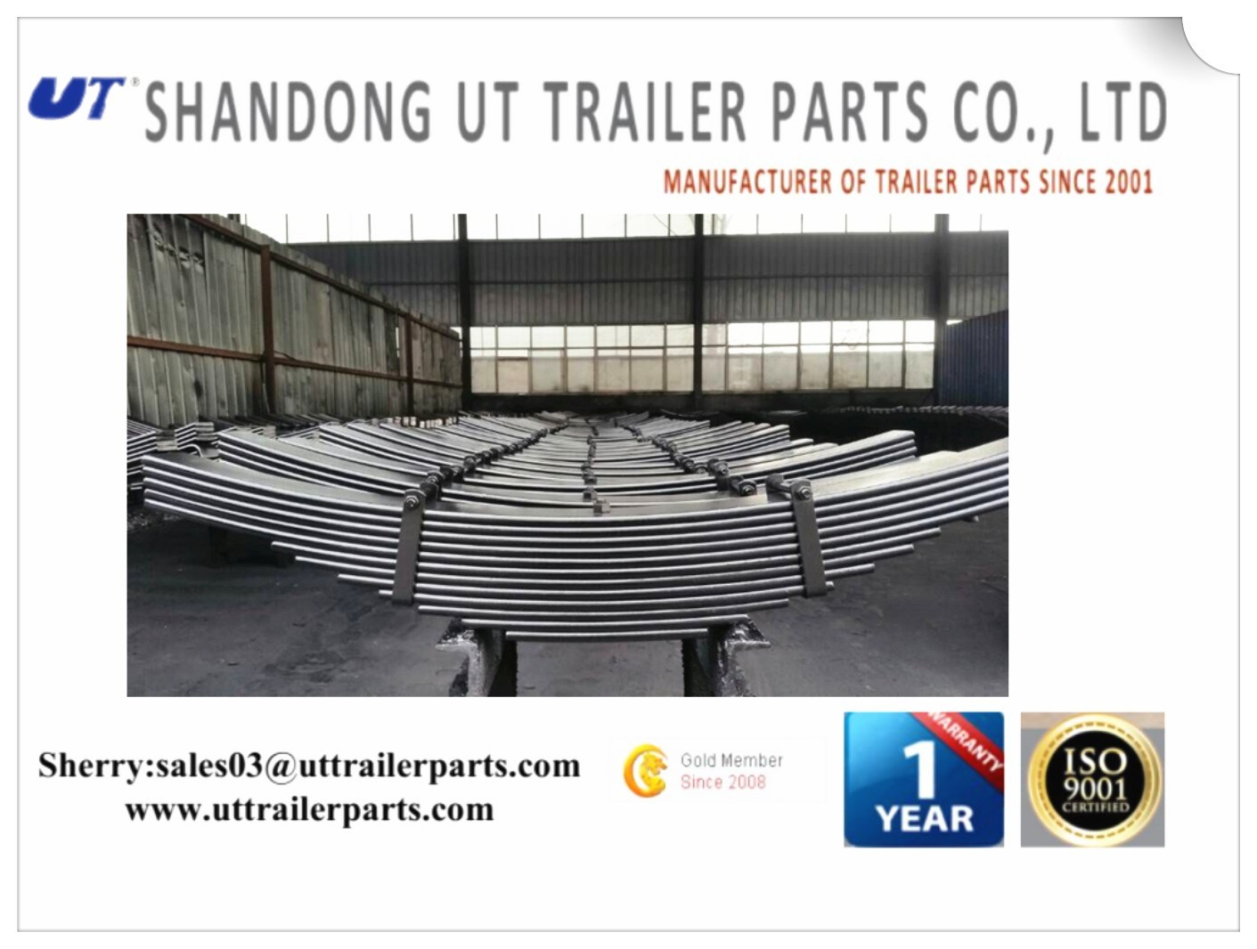 Conventional Stainless Truck Trailer Leaf Spring