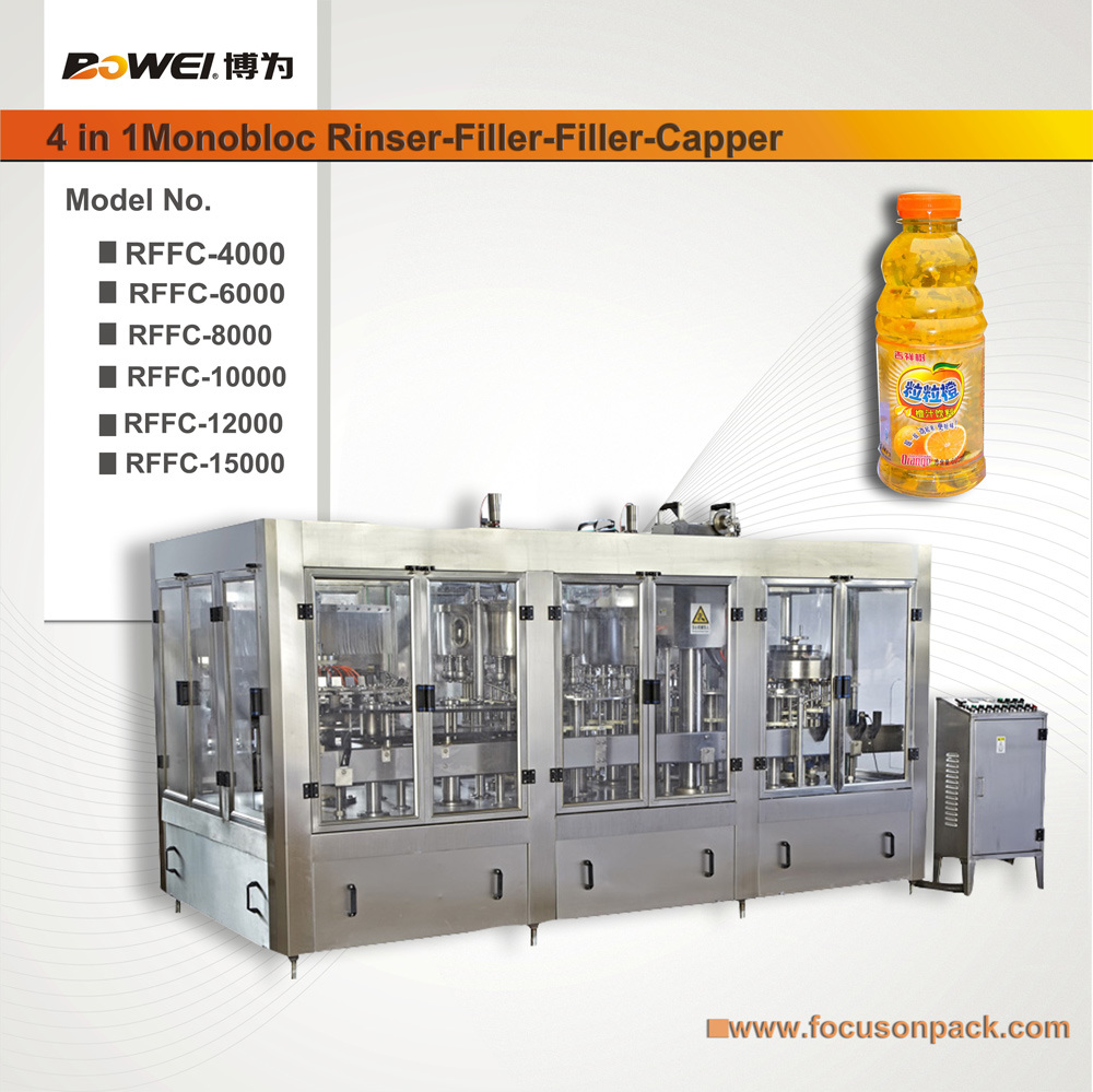 4 in 1 Juice Beverage Filling Machine