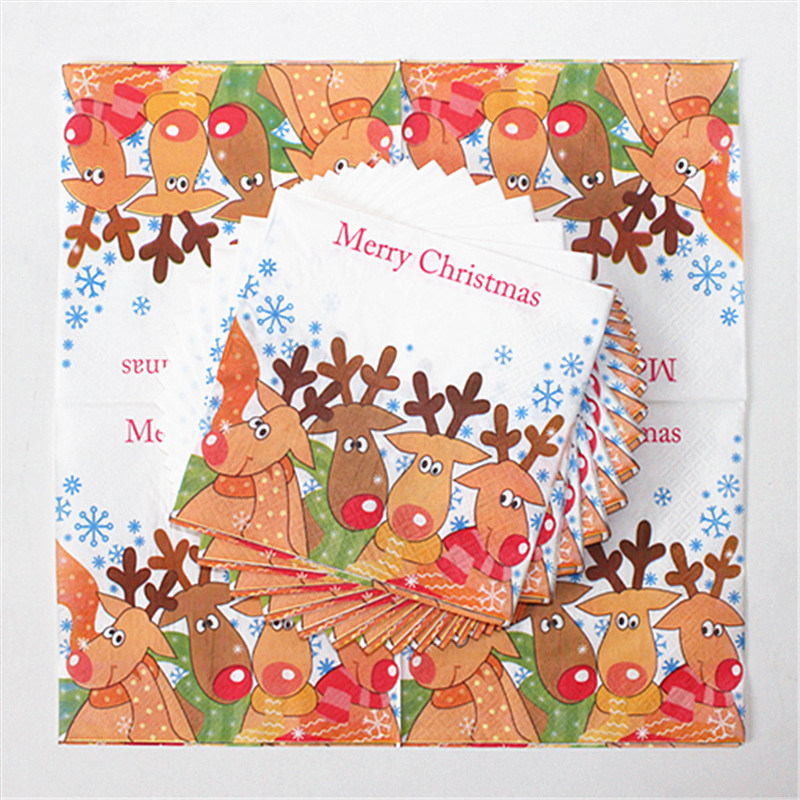 Disposable Party Paper Napkin with Color Printed