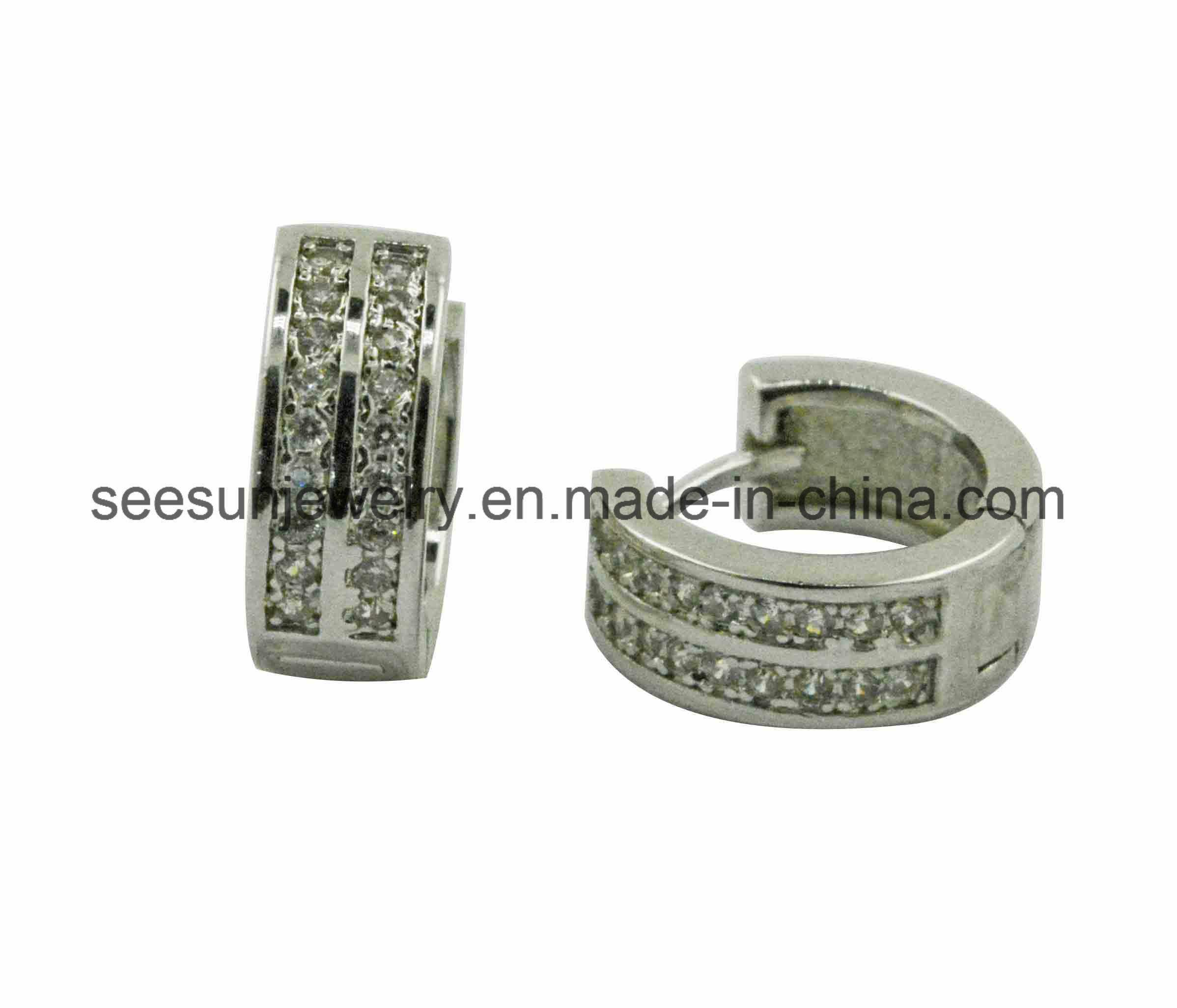 925 Silver Jewelry Good Selling Huggies Earring for Women