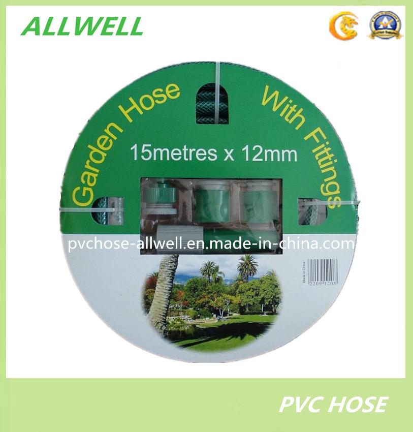 PVC Plastic Flexible Fiber Braided Reinforced Water Hydraulic Garden Irrigation Pipe Hose