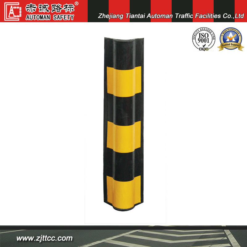 Reflective Industrial Rubber Parking Garage Wall Guard with Yellow Reflective Tapes (CC-C04)