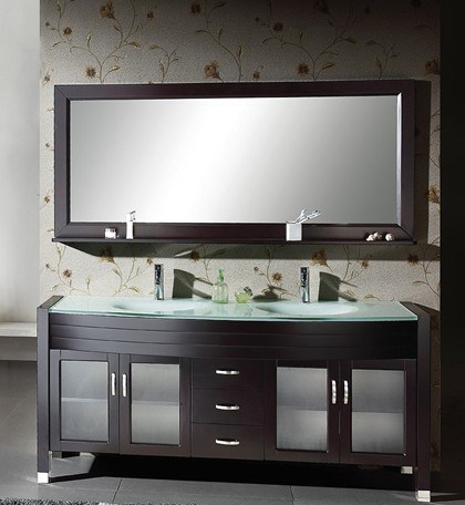 China 63 Double Sink Solid Wood Bathroom Vanity GB S9513 Photos P