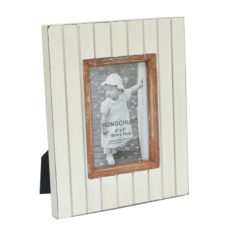 Colorful Distressed Wooden Photo Frame for Home Deco