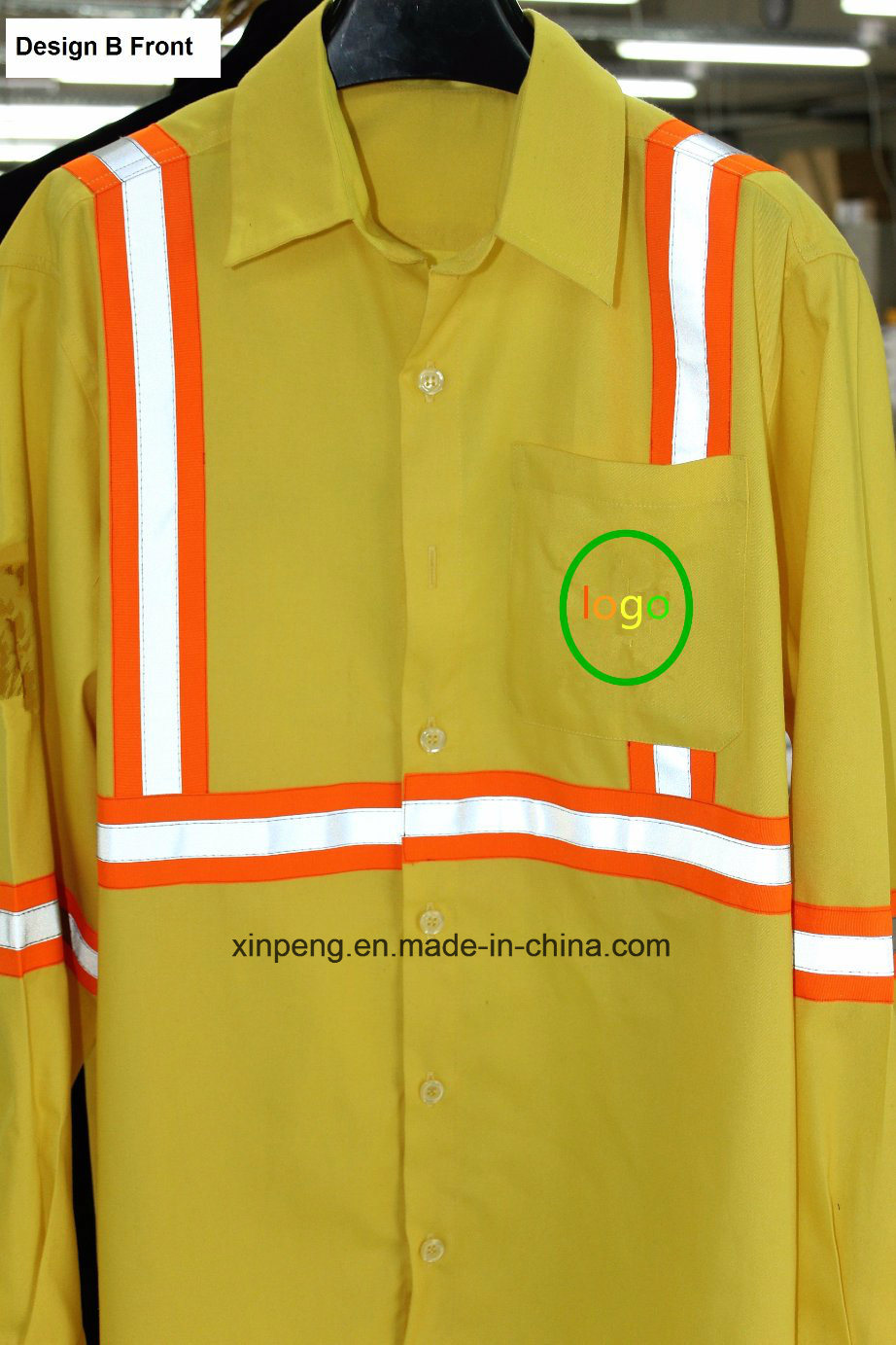 Safety Work Suits for Cleaner with Reflective Tapes T/C Fabric