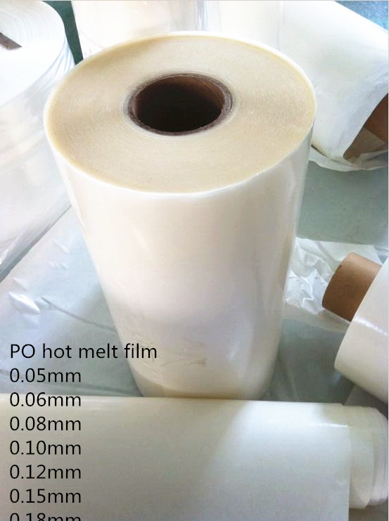 Embroidery Fabric Laminated Po 0.08mm Hot Melt Adhesive Backing Film (HF-PO 0.08mm)