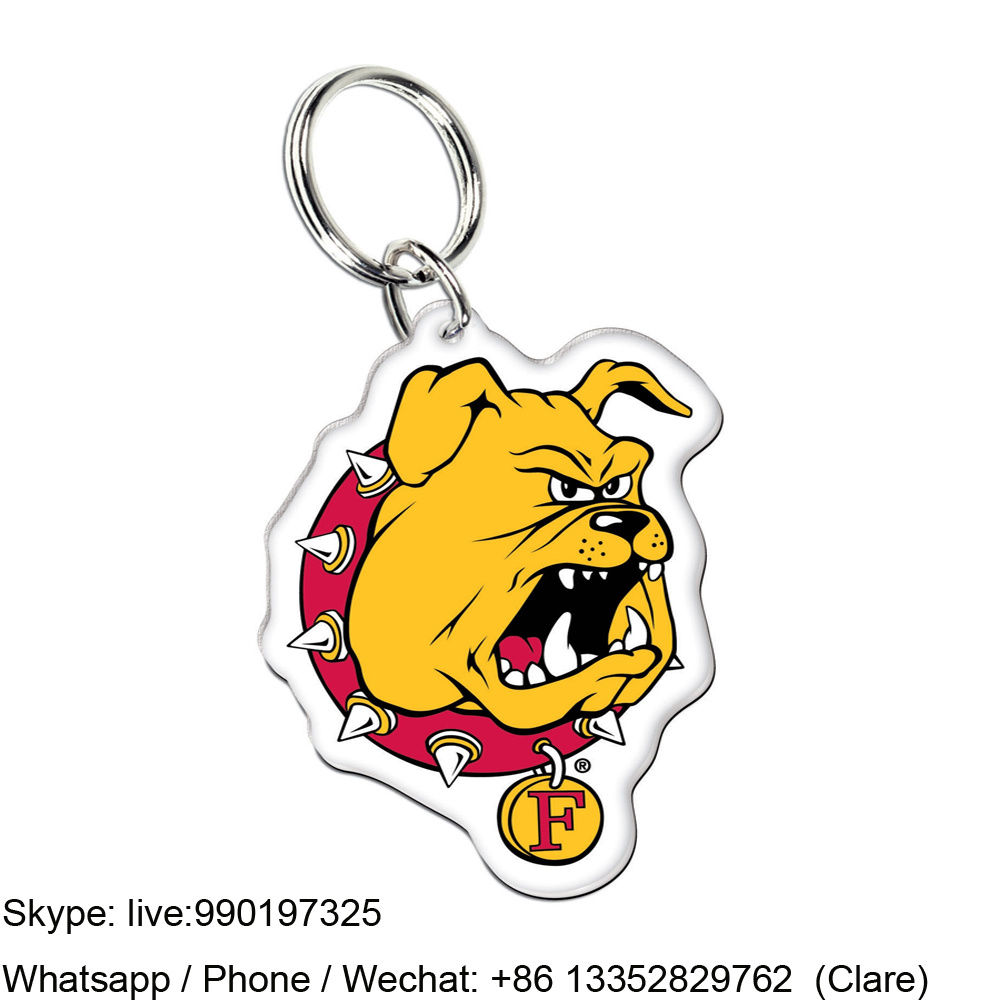 Customized Acrylic Soild keychain Promotion Gift