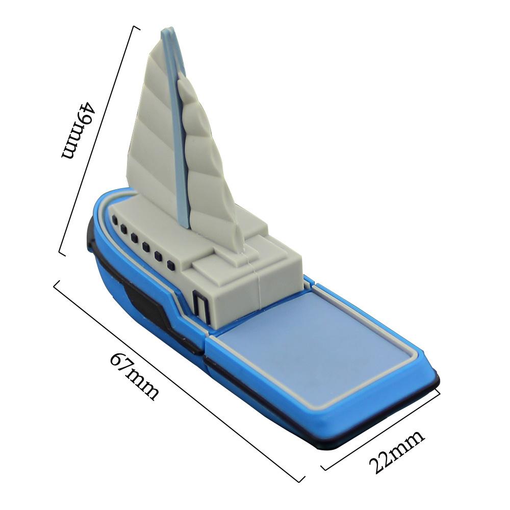 Chyi USB 2.0 Pendrive Blue Sailboat Boat Model 2GB 4G 8g 16g 32GB 64GB Ship Mini USB Flash Drive Pen Drive Memory Stick U Disk