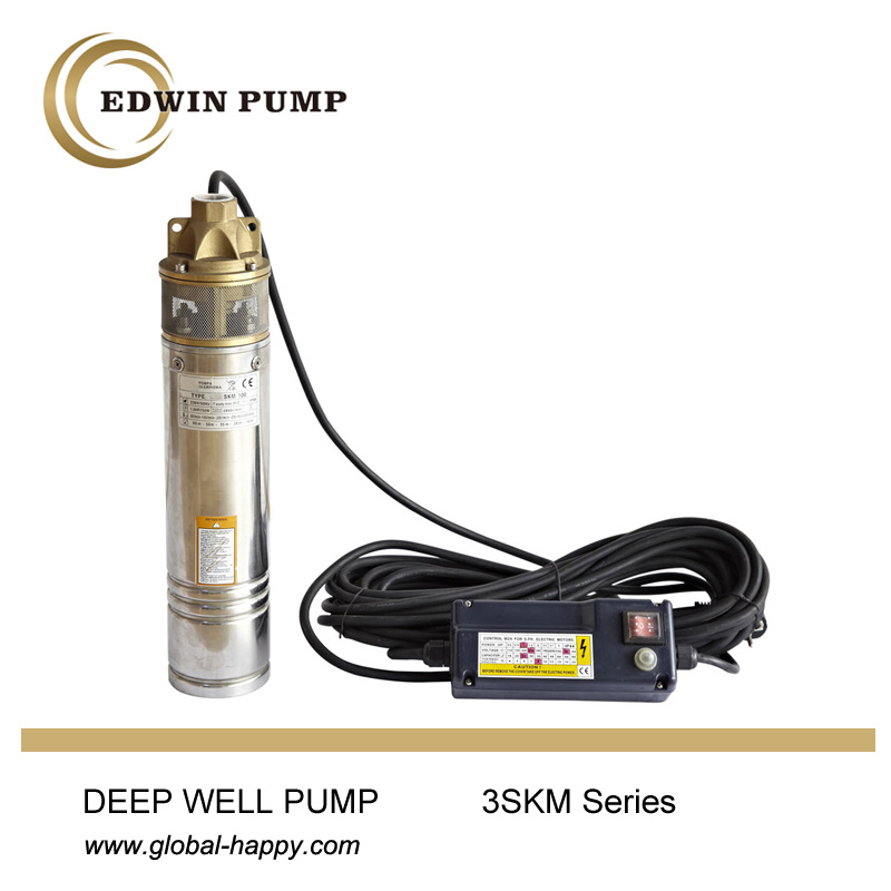 3 Inch Deep Well Borehole Submersible Water Pump