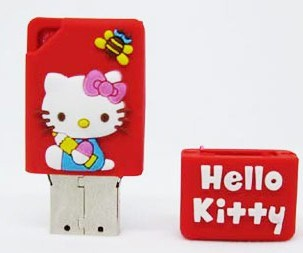 Hello Kitty PVC USB Flash Pendrive Style No. UF-323
