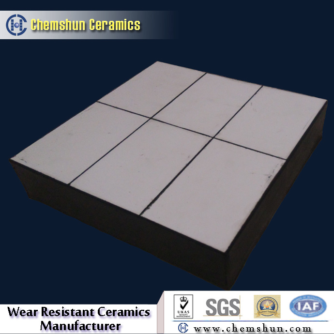 Abrasion Resistant Composite Rubber Ceramic Wear Liner for Ductwork