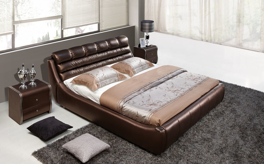 China double bed designs ah648 china double bed designs leather bed - Designs of double bed ...