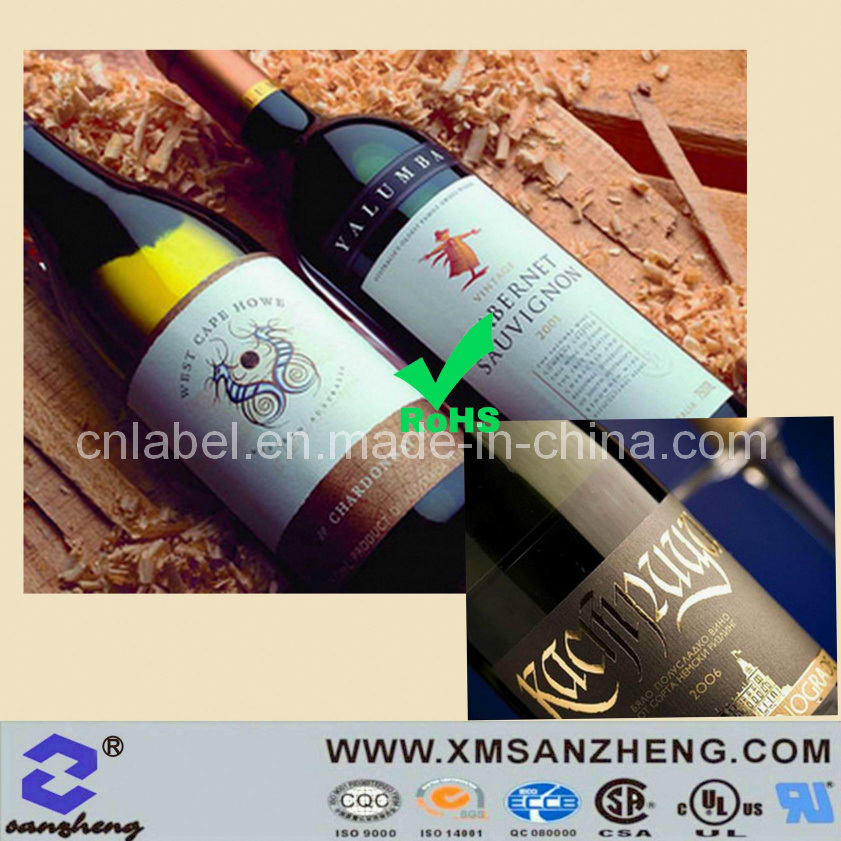 High Quality Wine Adhesive Label Sticker (SZ3125)