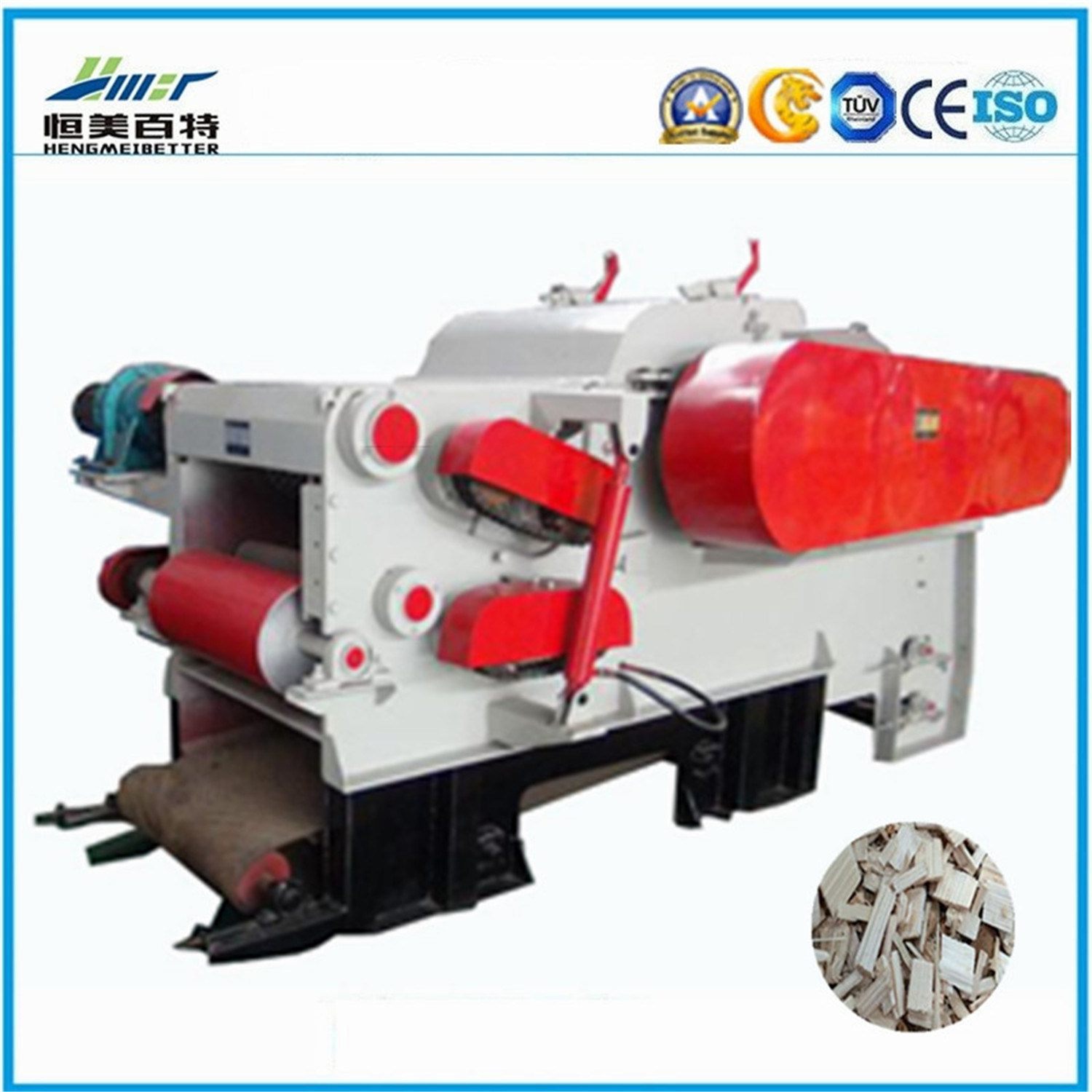 Large Capacity Diesel Engine Mobile Wood Chipper for Sale