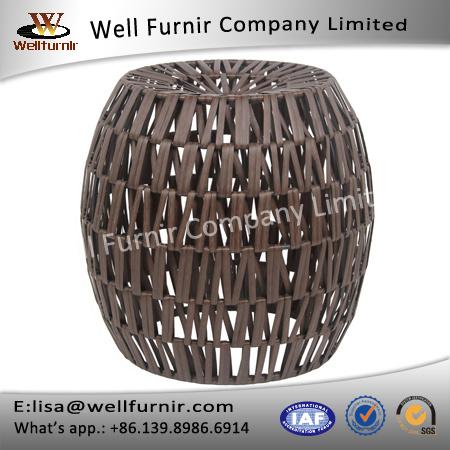 Well Furnir T-038 Privilege International Resin Wicker Round Stool