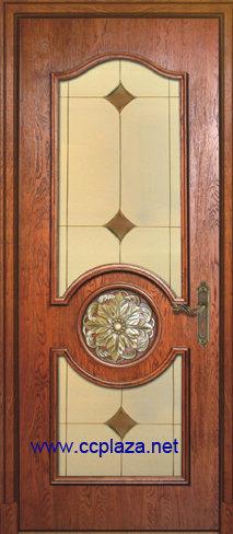 Puerta de madera s lida estilo hecho a mano antiguo for Puertas de madera estilo antiguo