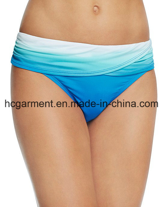 Gradient Colors Swimsuit for Women, Sex Lady′s One-Piece Swimming Wear